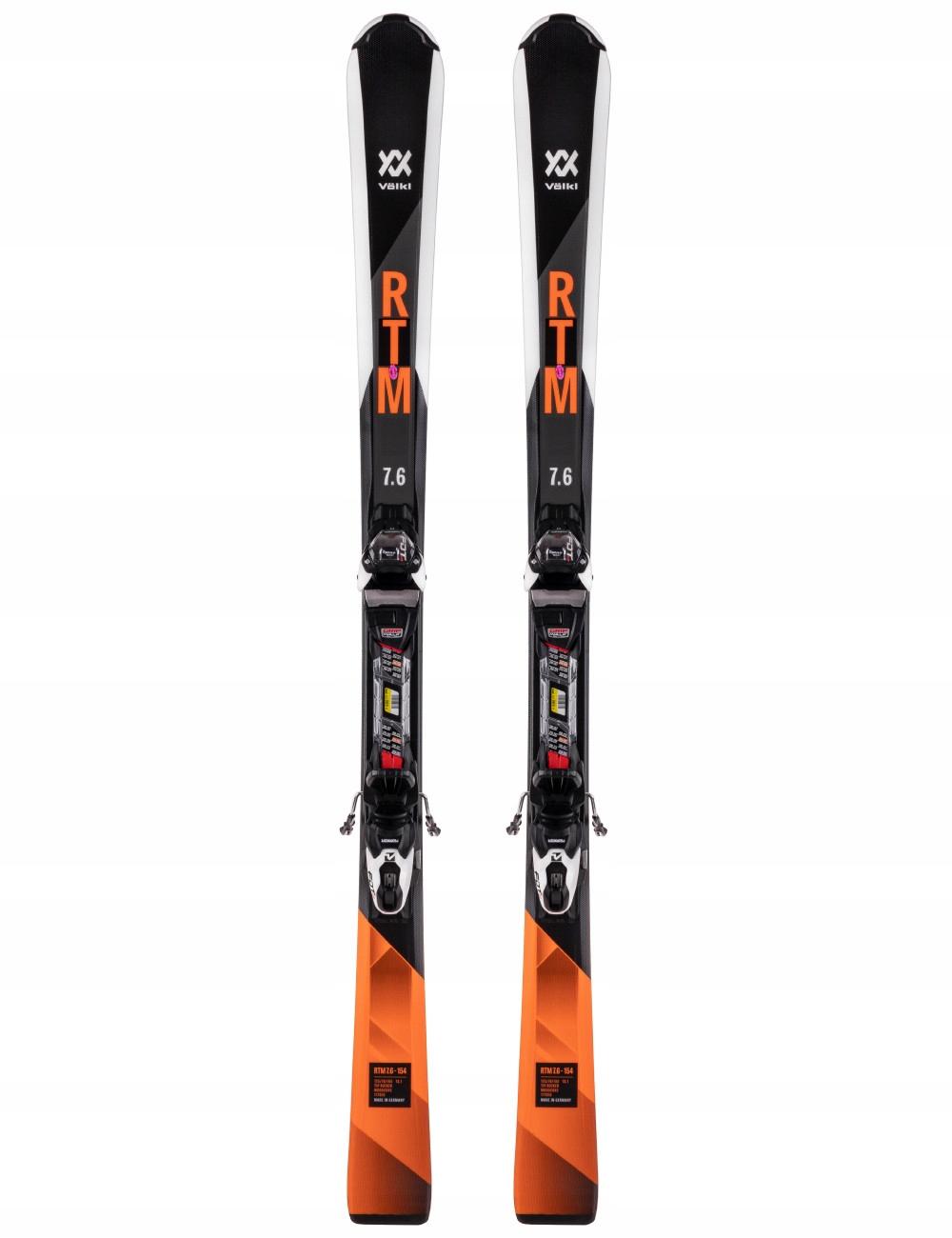 Мужские лыжи Volkl RTM 7.6 + Маркер 10.0 FDT 154см