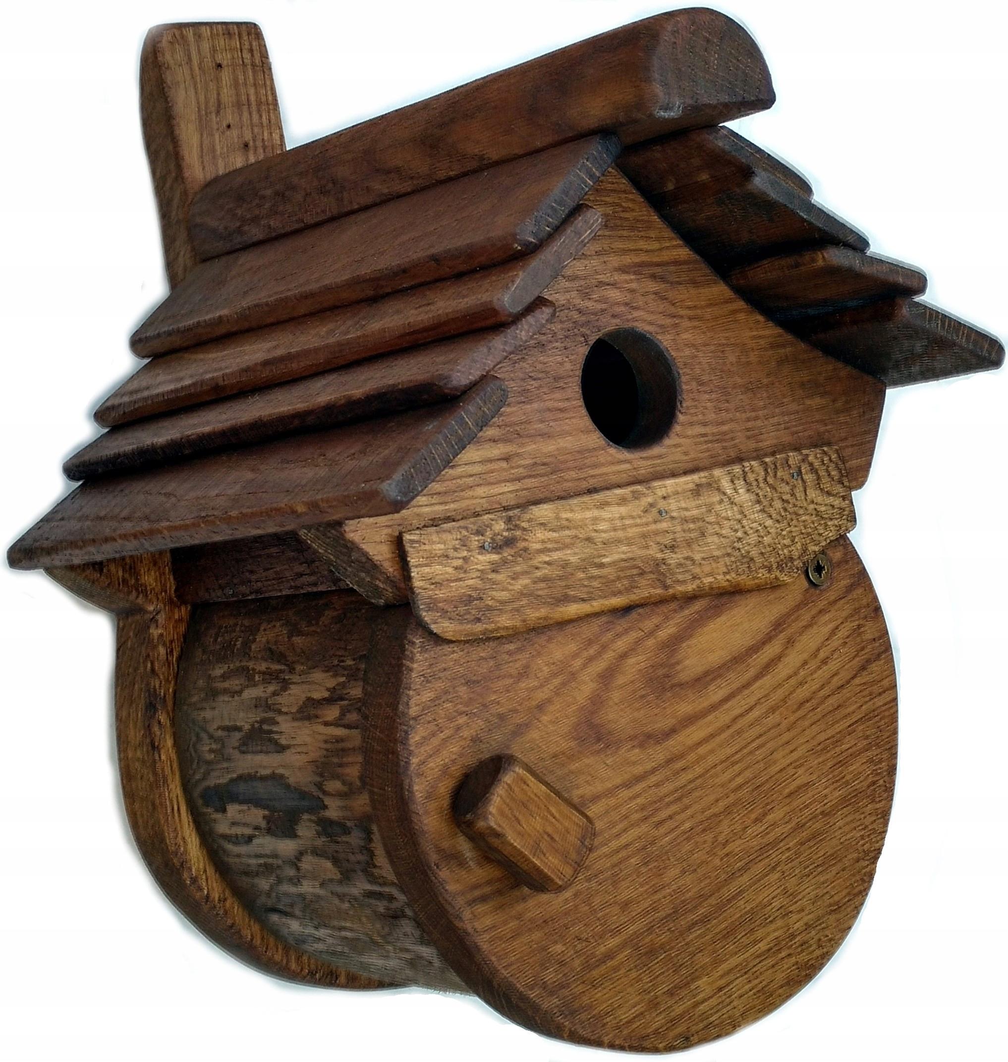 ŁĘGÓWKA dubových pre malé vtáky remeselnej Kvality