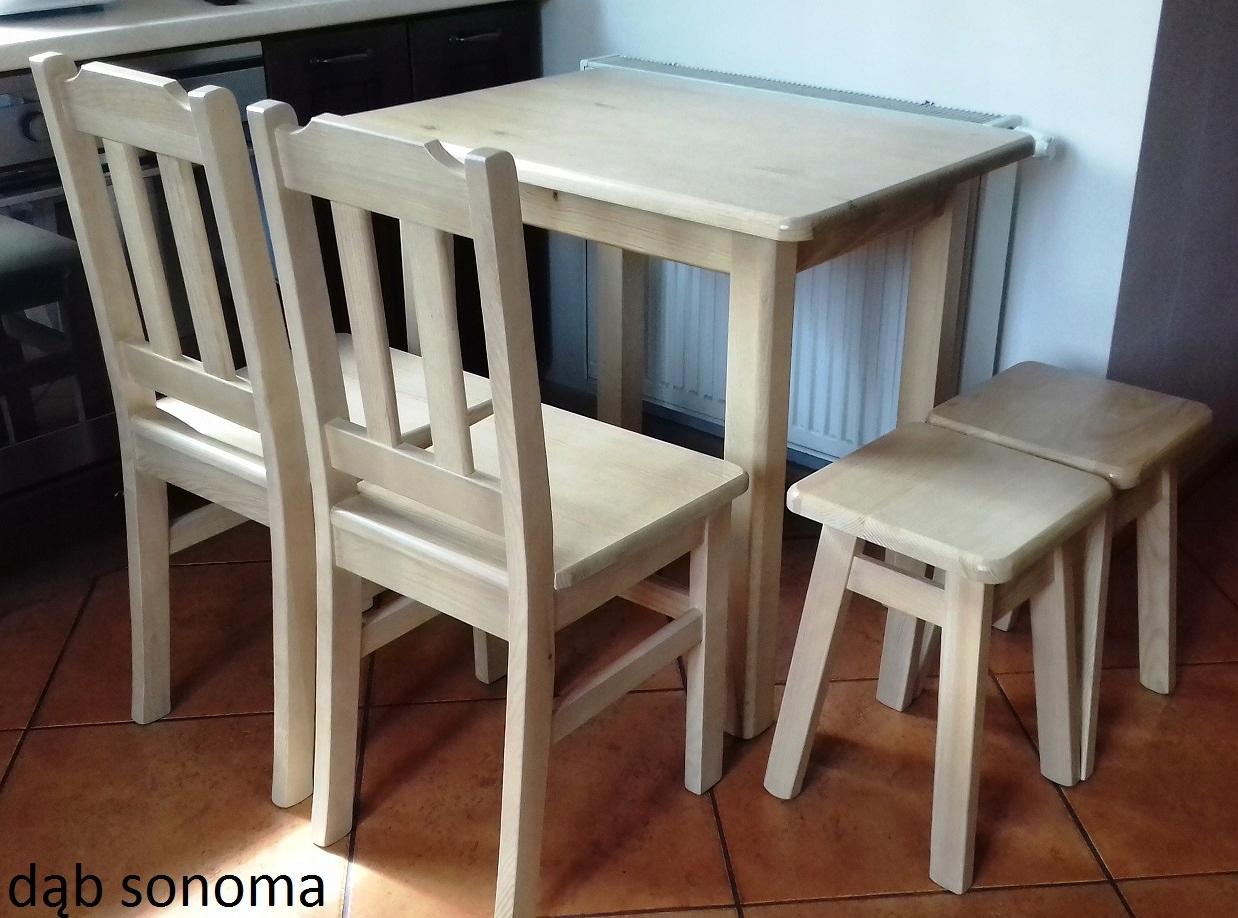 SOLIDNY stół 60x60 stolik kuchenny ława drewniana Kształt blatu Kwadratowy