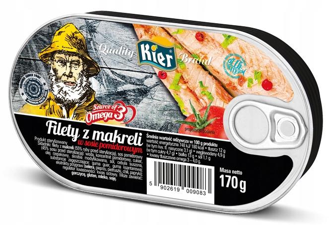 Item Mackerel fillets in tomato sauce 170g Hearts