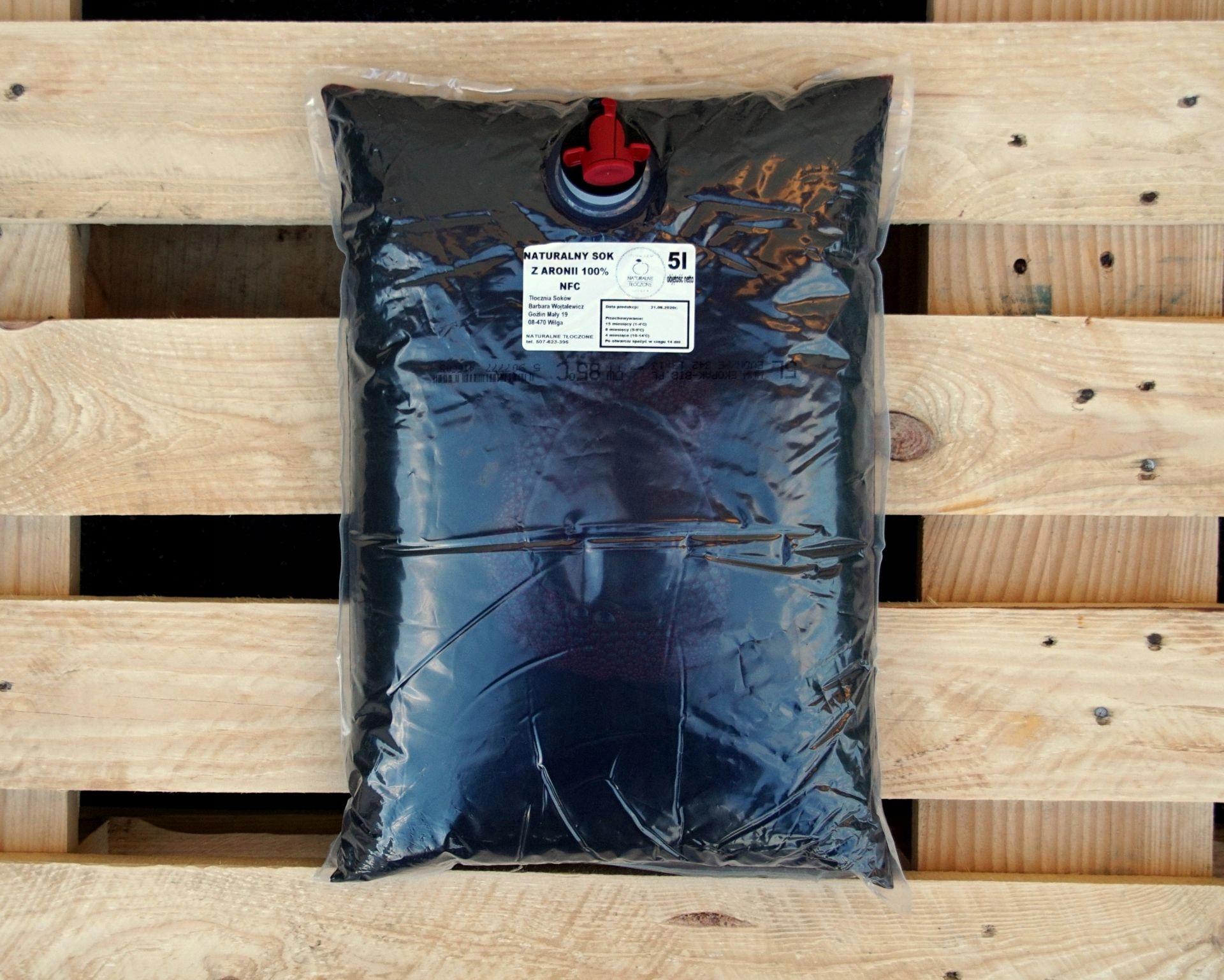 Сок черноплодной рябины 100% 5л (прессованный, NFC)