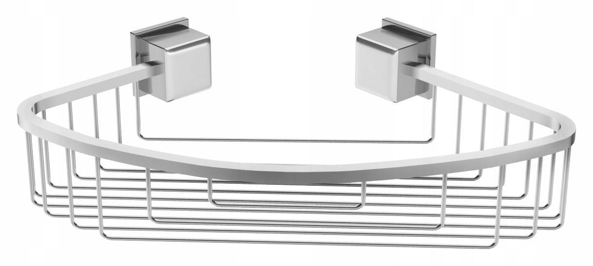 Rohová polička do kúpeľne, kovový sprchovací kôš