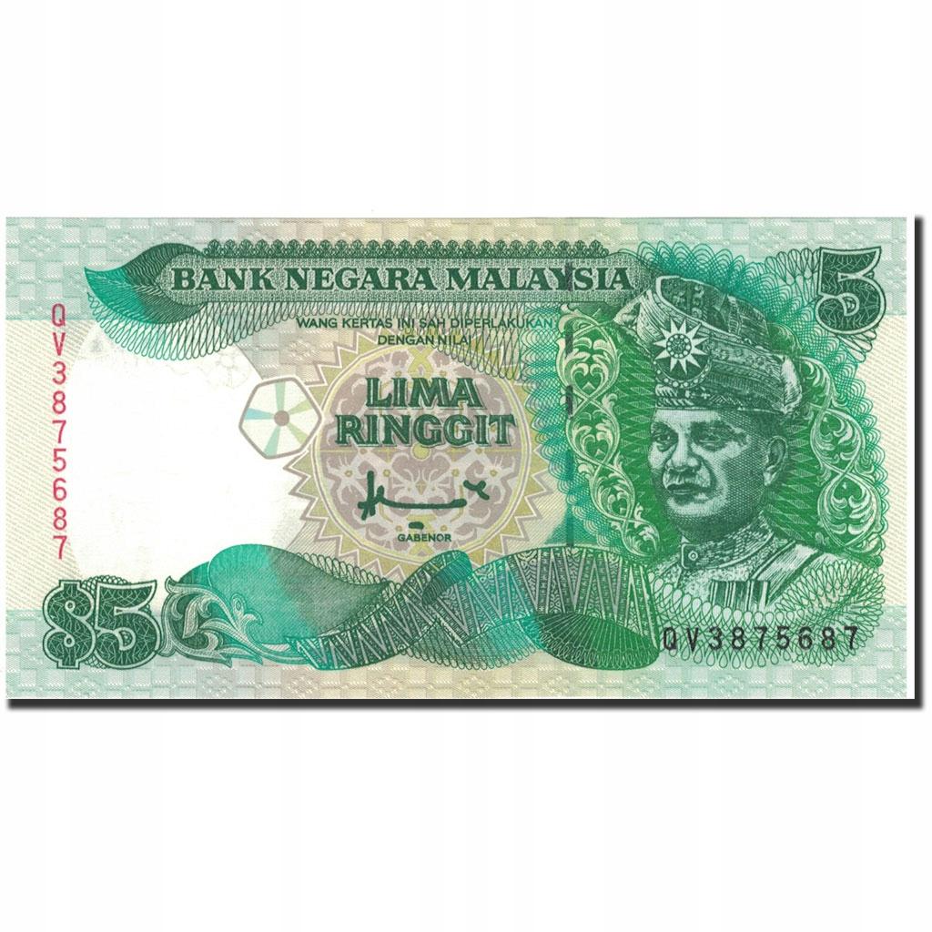 Банкнота, Малайзия, 5 ринггит, без даты (1986-89), км