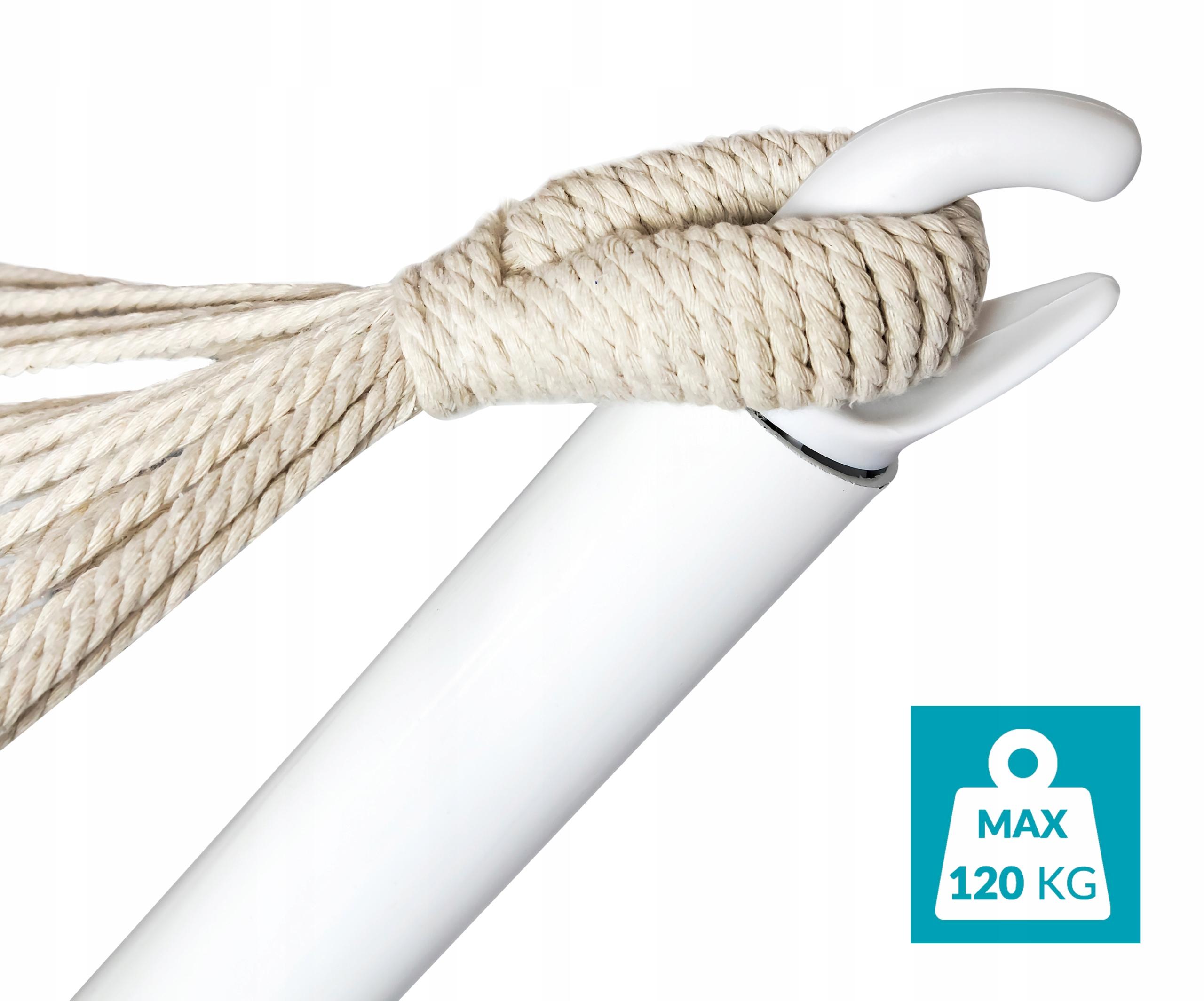 HAMAK SG-CANARIA z metalowym STELAŻEM 200x100cm XL Długość (dłuższy bok) 200 cm