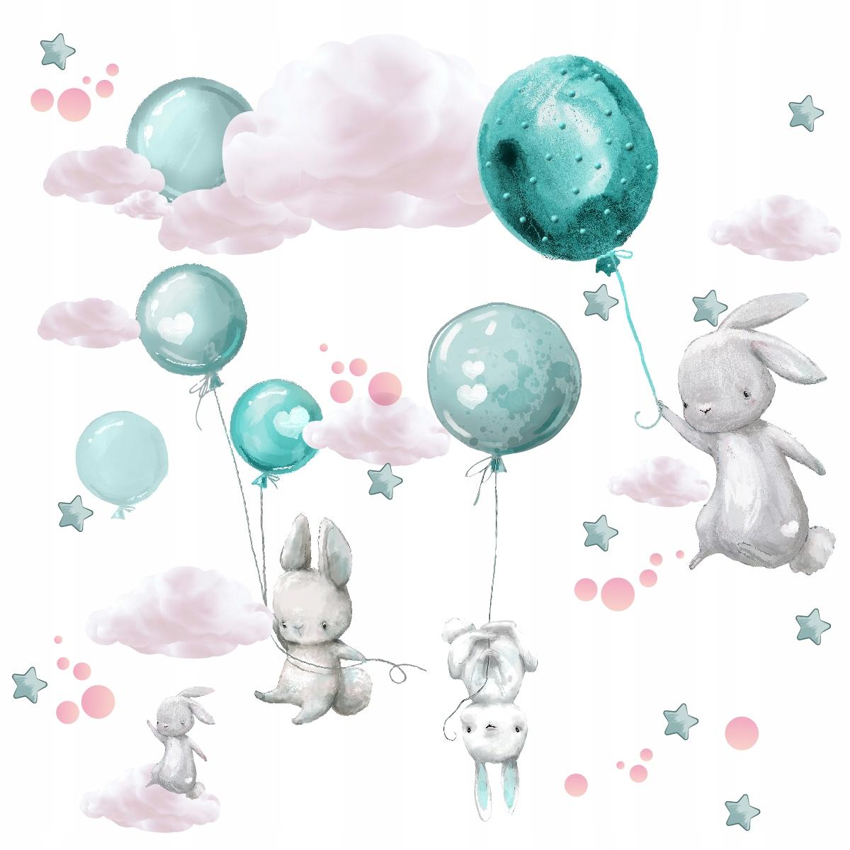 naklejki dla dzieci na ścianę ścienne balony