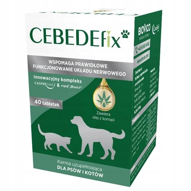CEBEDEfix 40 таб. собака кошка с CBD действительна до 12.2023
