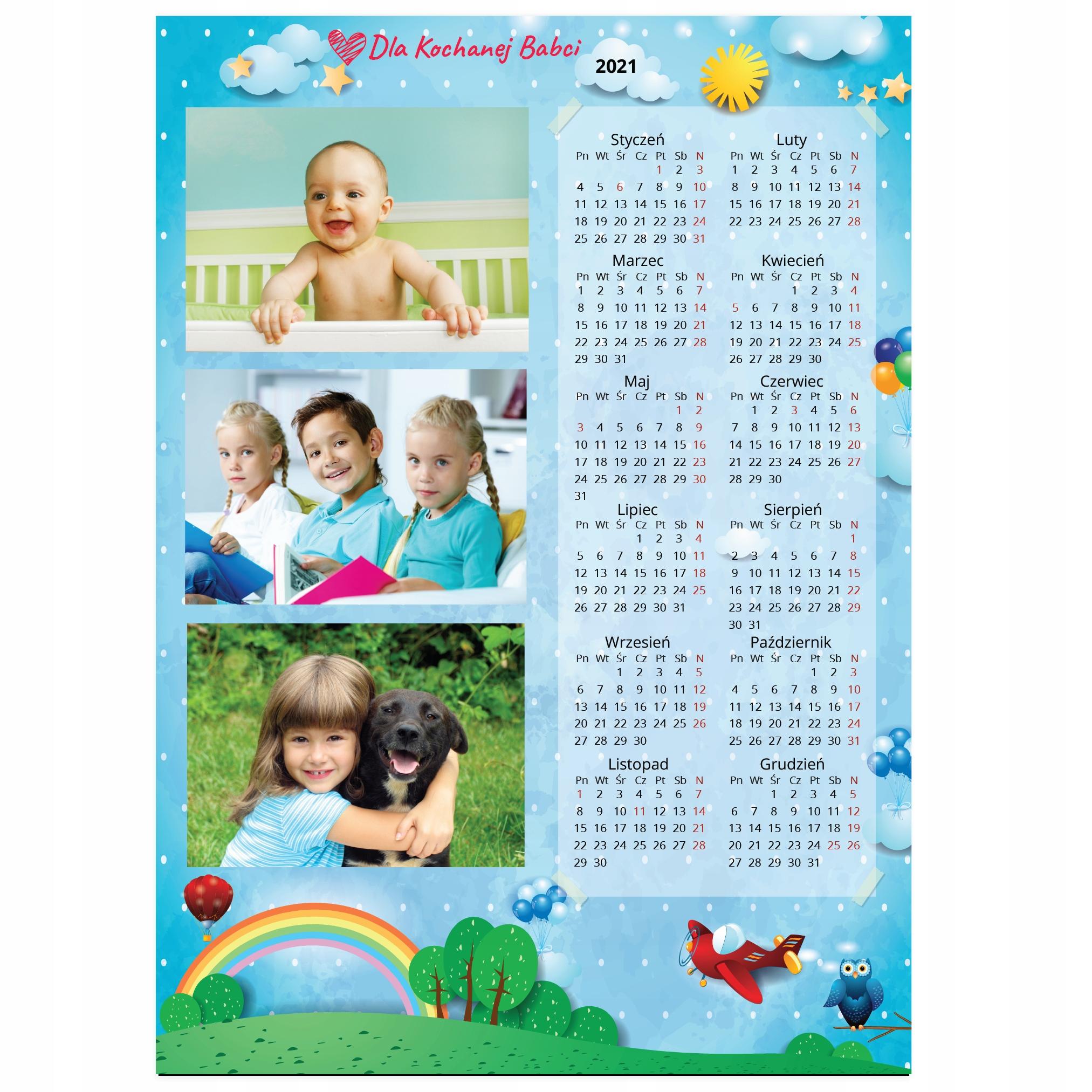Foto kalendarz MAGNES A4 TWOJE ZDJĘCIA + Gratis