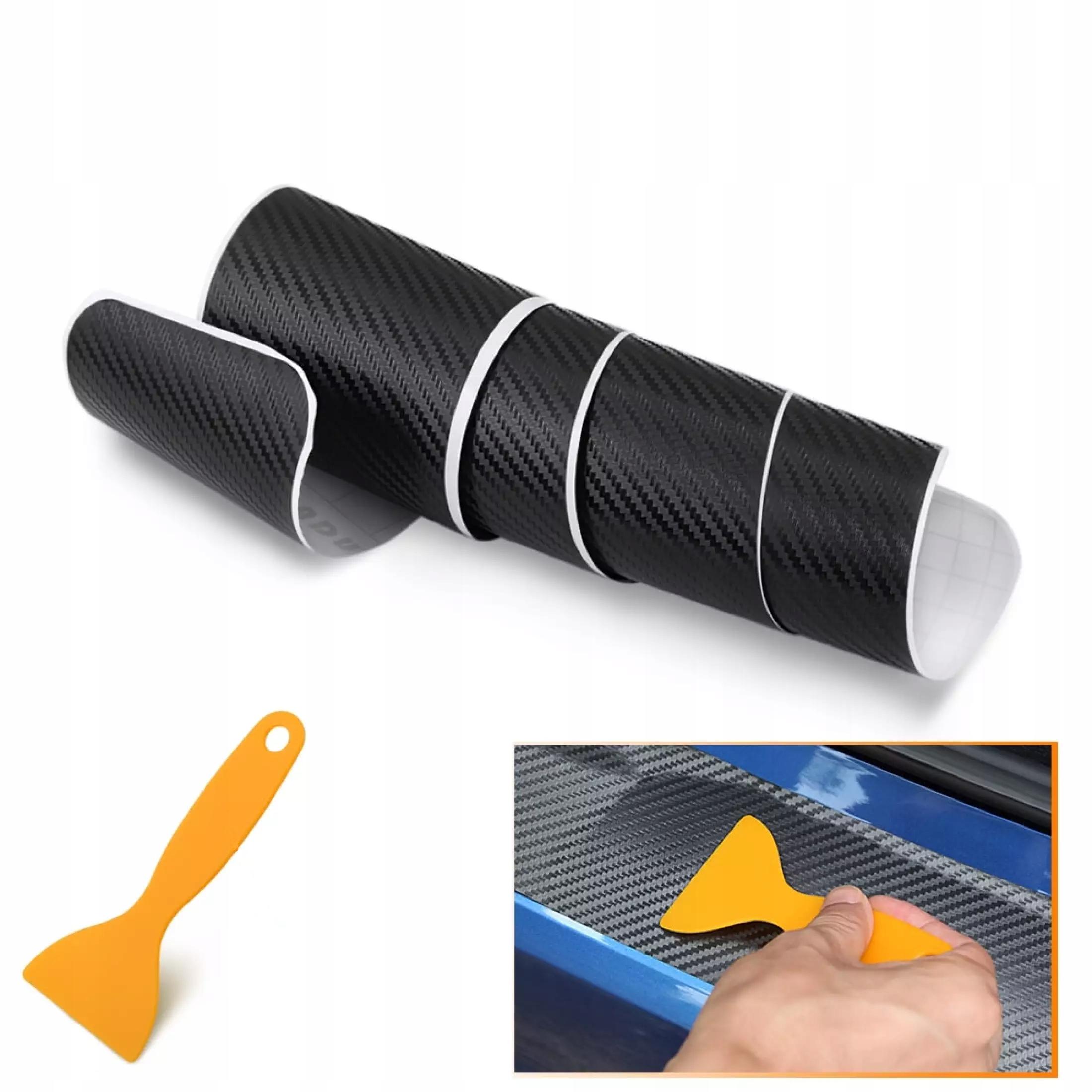 наклейка пленка защитная на бампер carbon 90x8 8cm