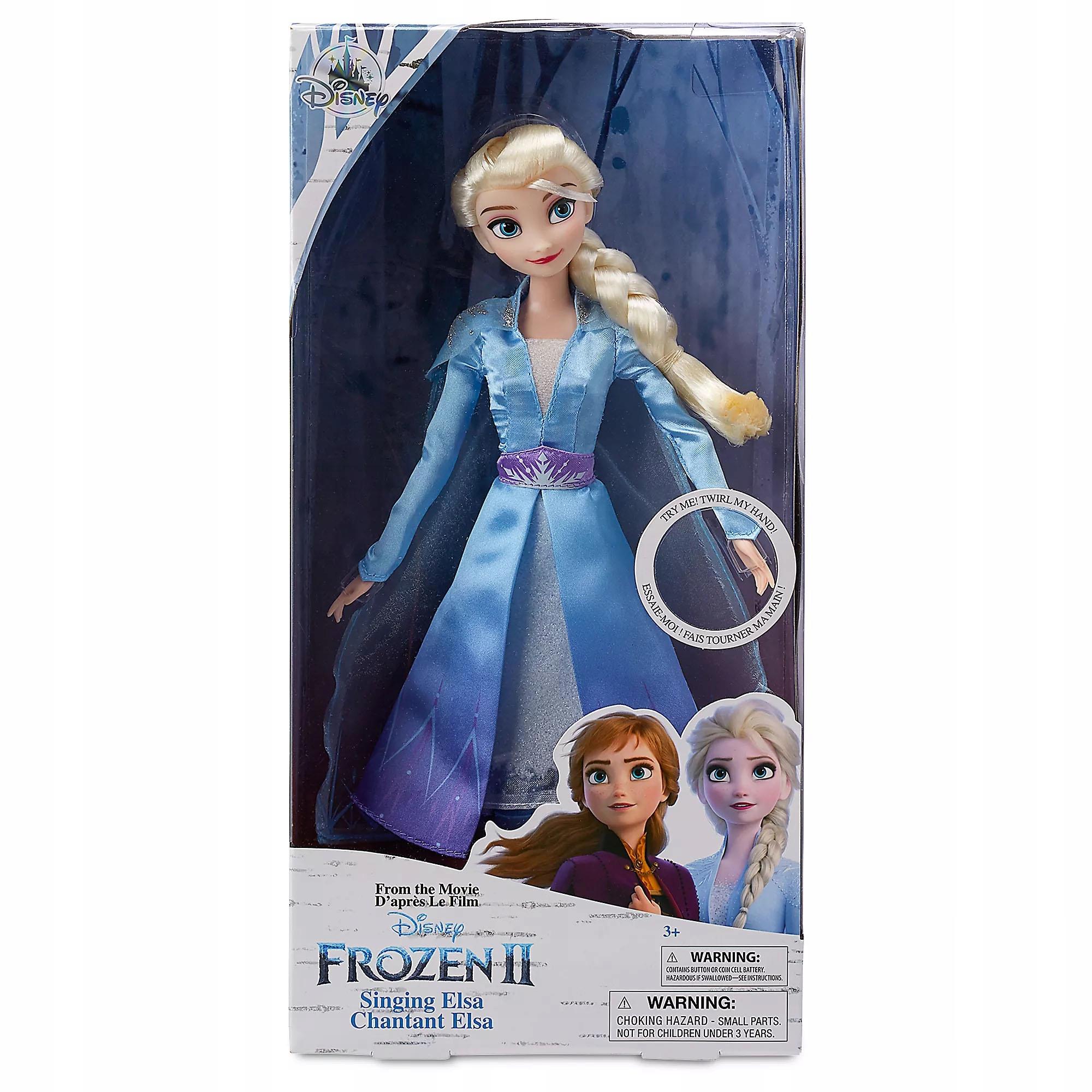 ŚPIEWAJĄCA LALKA ELSA KRAINA LODU FROZEN 2 DISNEY Marka Disney