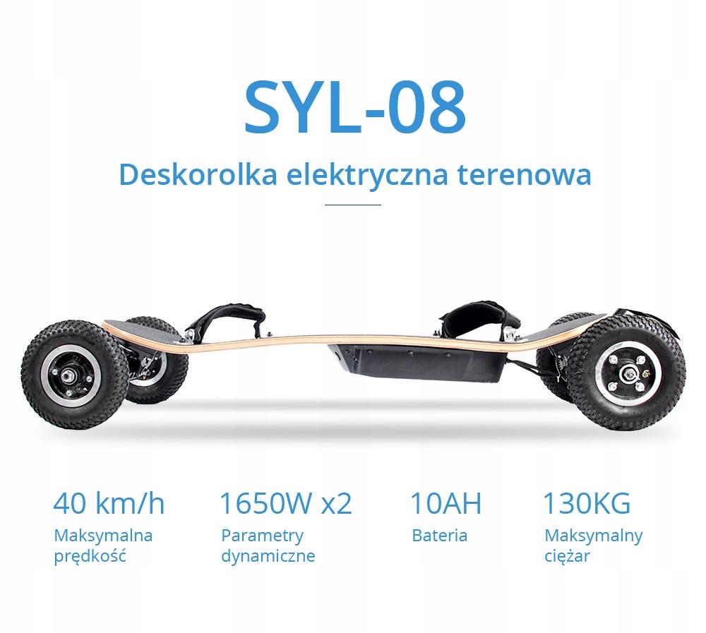 SYL-08 Terenowa deskorolka elektryczna 1650W 10Ah Typ deskorolki longboard