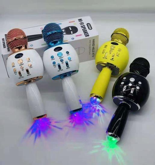 MIKROFON KARAOKE BLUETOOTH STROBOSKOP LED DISCO Zasilanie akumulatorowe