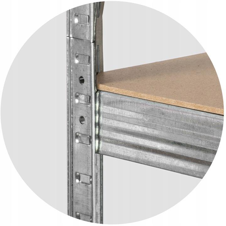Regał metalowy magazynowy 150 x 75 x 30 Humberg Głębokość 30 cm