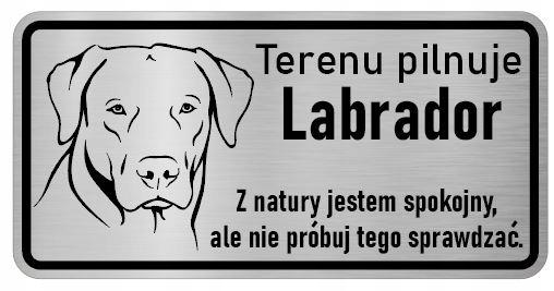 Внимание Лабрадор Паспортная табличка собаки