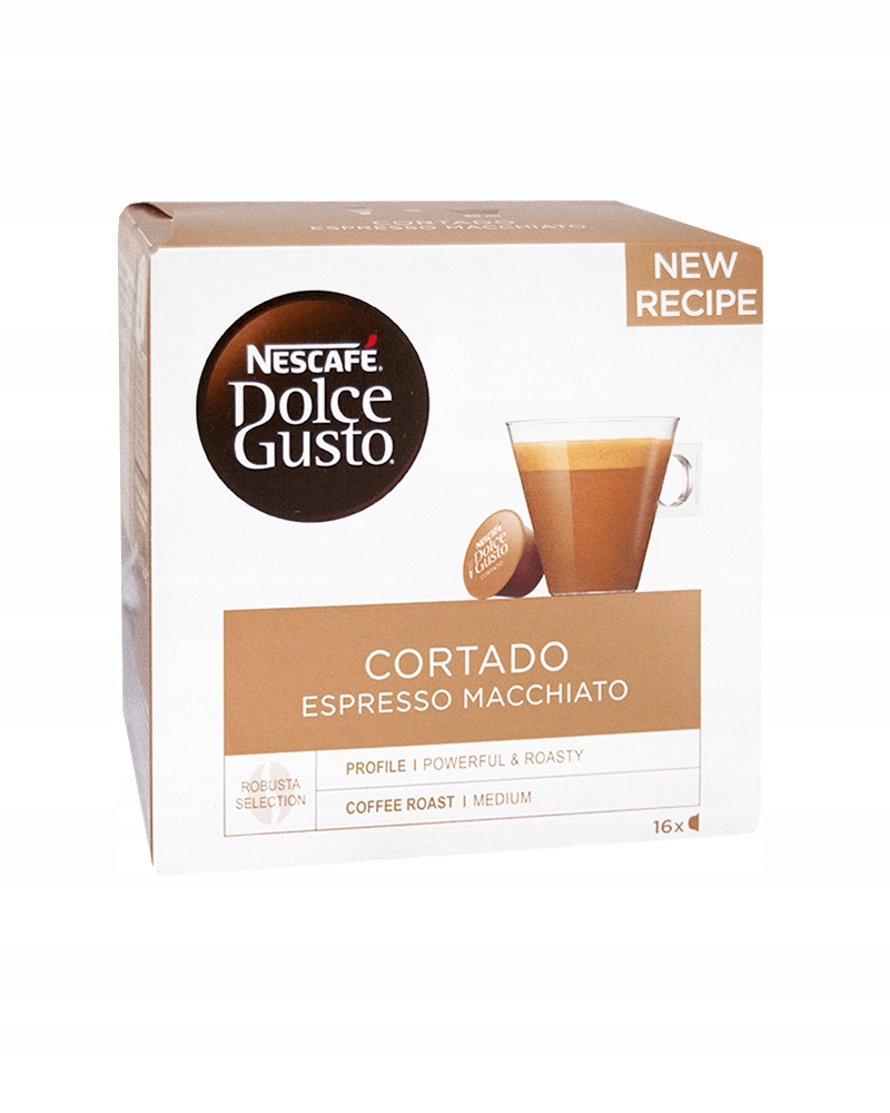Kawa kapsułki NESCAFE DOLCE GUSTO CORTADO 16 sztuk