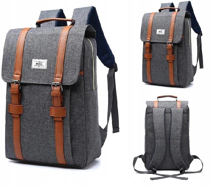 Plecak Damski, Stylowy A4, Laptop, Kolory