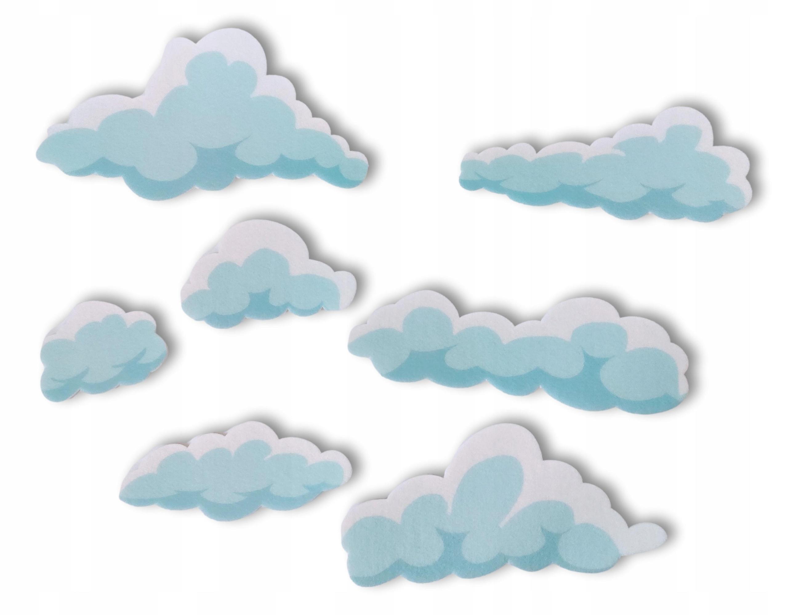 Облака мягкие наклейки на стену пастель