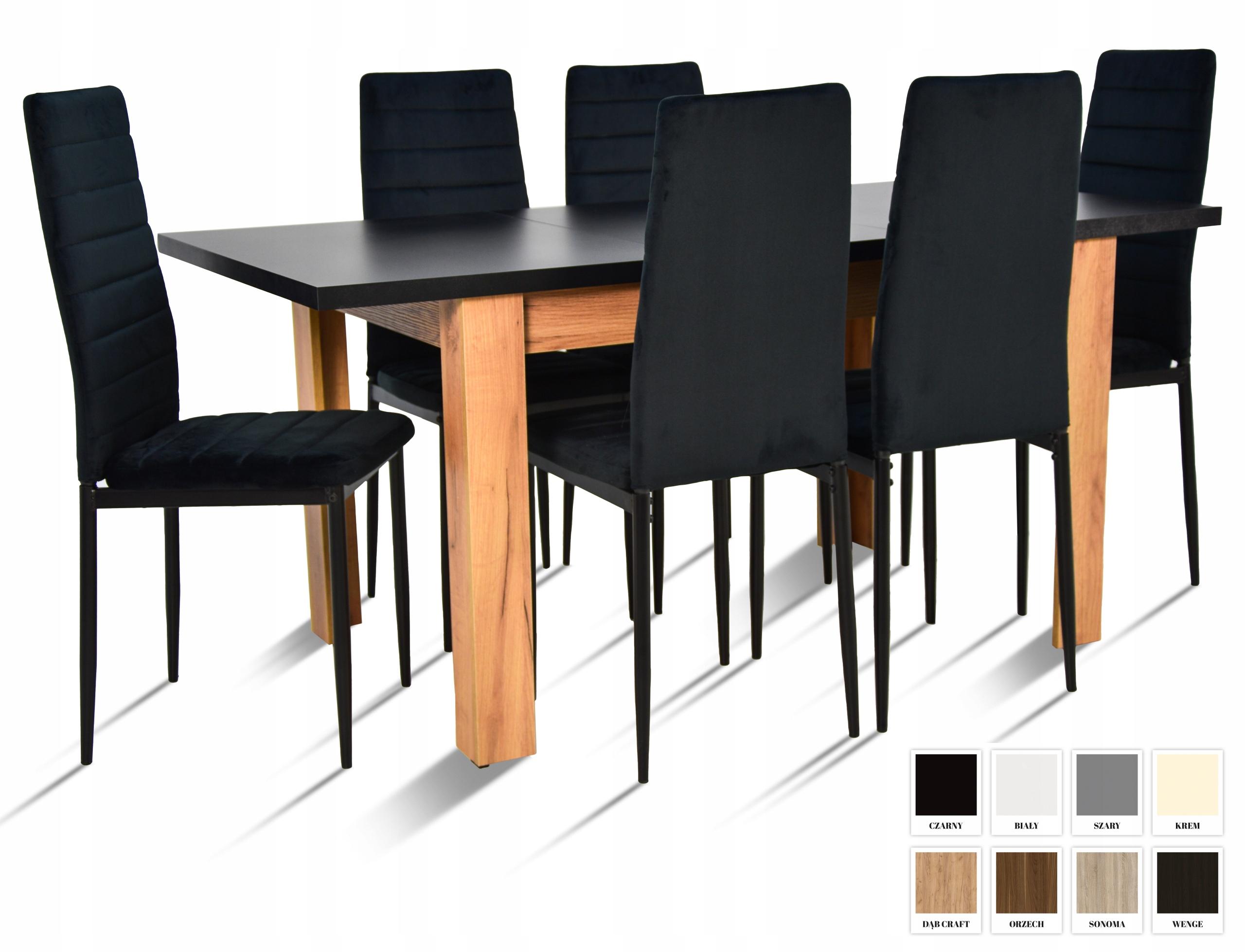 Современный комплект из Стола 80х120 / 160 и 6 стульев.
