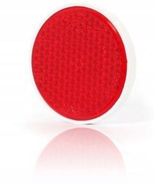 отблеск красный круглый fi75 с винтом свет