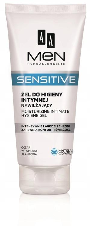 AA Men Sensitive гель для интимной гигиены nawilżaj.
