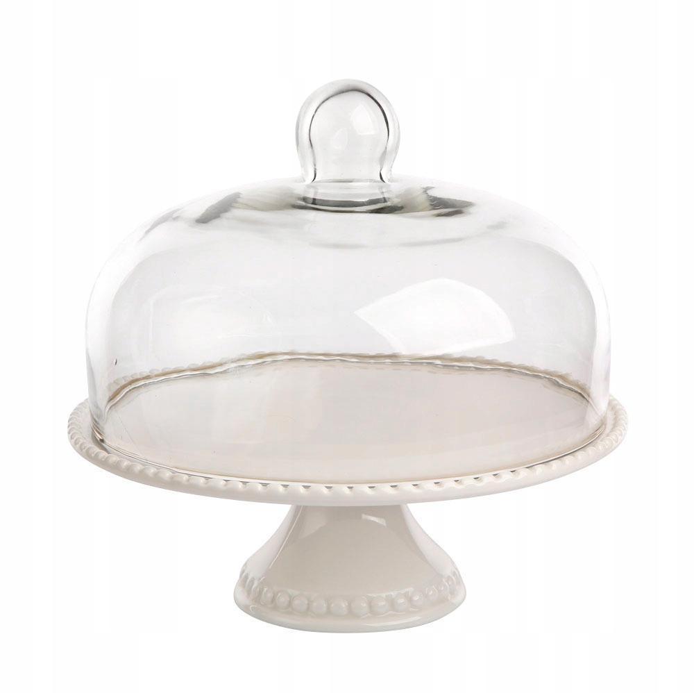 Стеклянная подставка для торта с абажуром 27,5 см