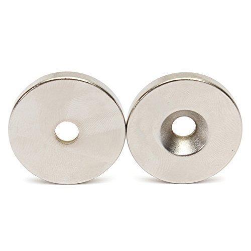 Neodymový magnet 25x7,5 / 4,5x5 mm pod skrutkou