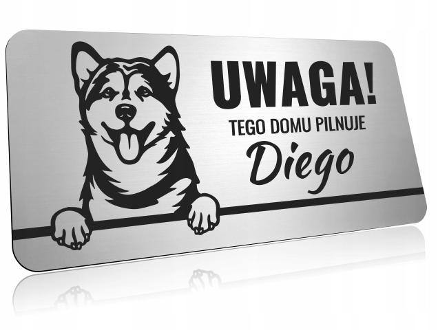 Табличка для собак РАЗНЫХ ПОРОД - с гравировкой