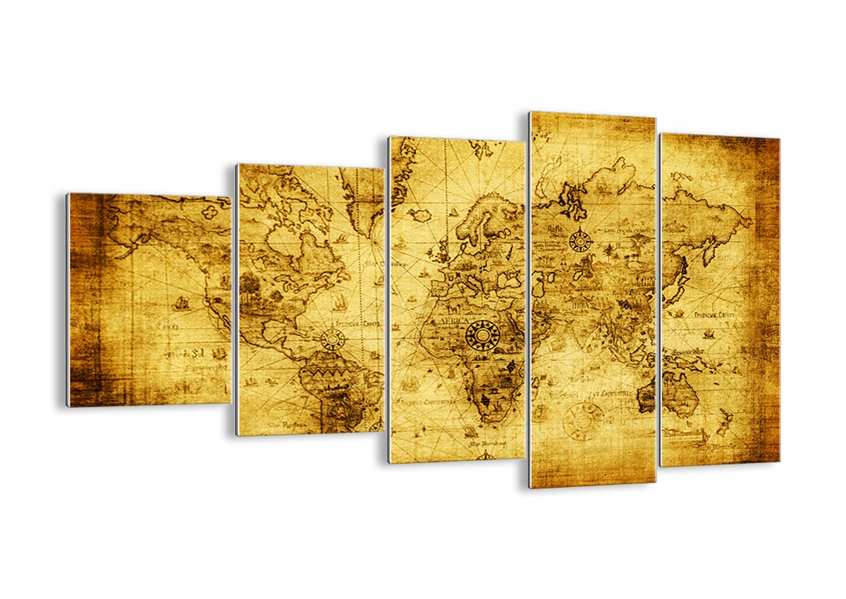 Obraz na skle Mapa Sveta, Retro GEG100x60-0127