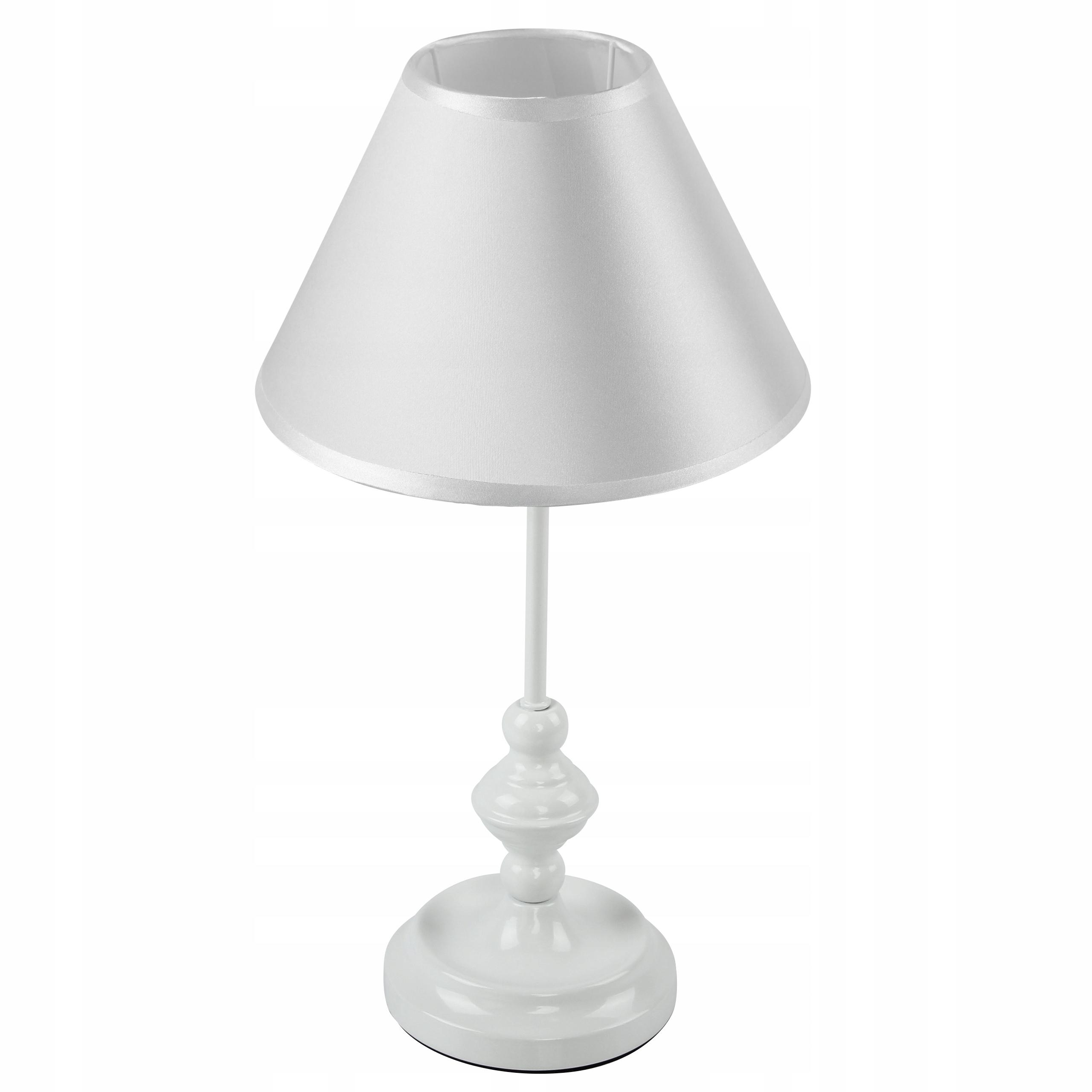 GLAMOUR Retro Vintage lampa na nočný stolík biela