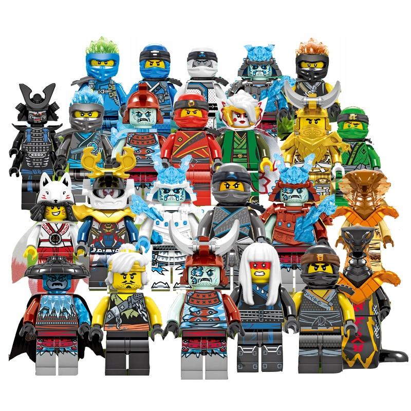 24 figúrok, ninja bloky + karta Lego Ninjago
