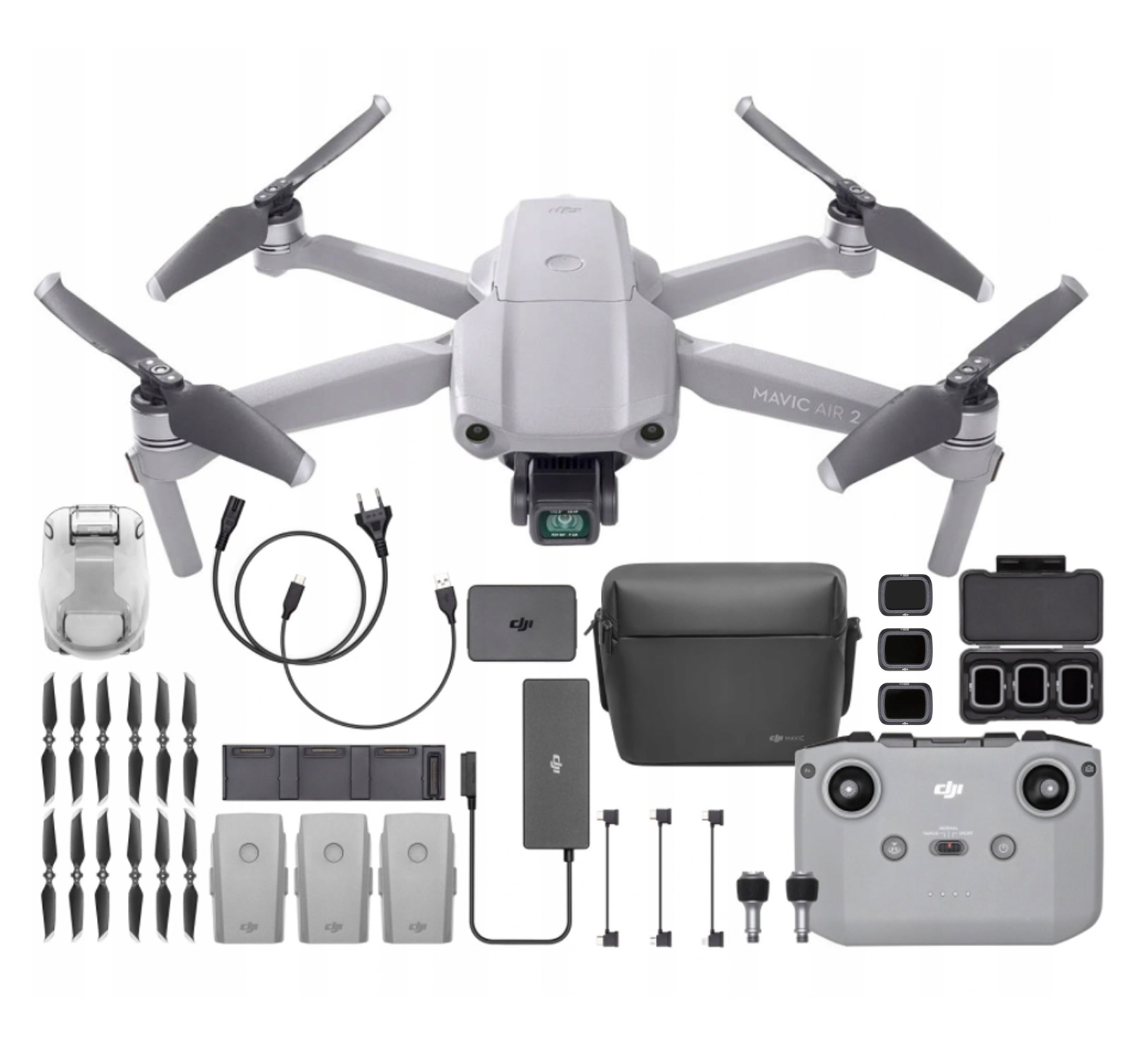 Dron DJI Mavic Air 2 4K Fly More Combo Akcesoria