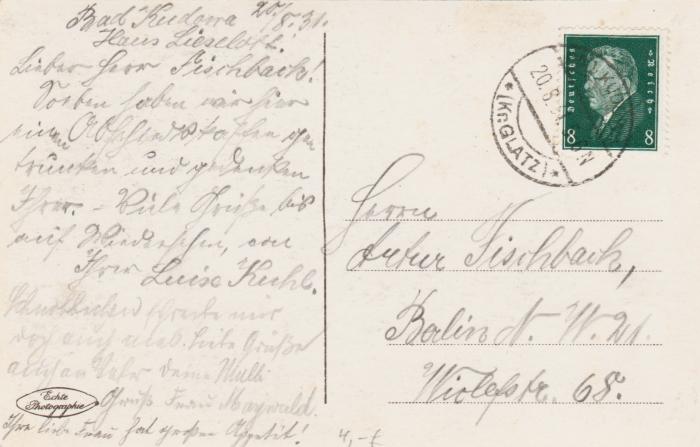 Купить BAD KUDOWA. BLICK VOM SCHLOSSBERG. FOT. 1931 на Otpravka - цены и фото - доставка из Польши и стран Европы в Украину.