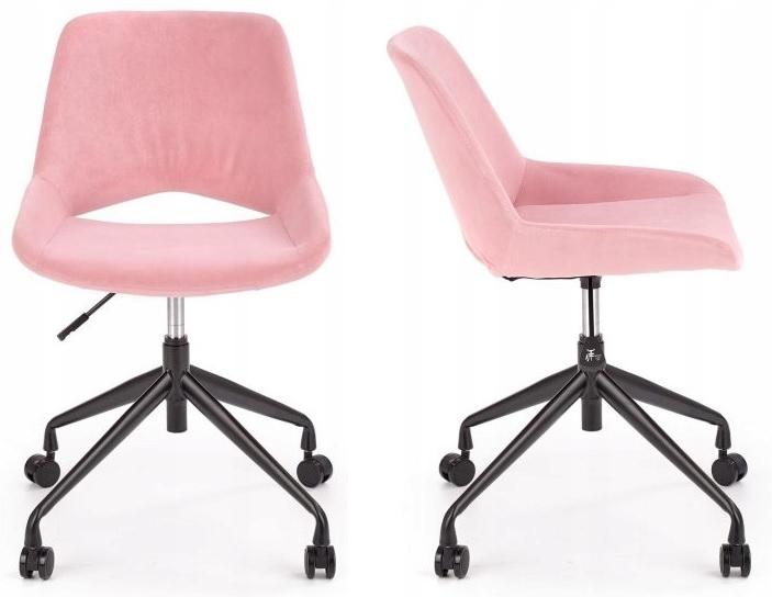 Otočná stolička ŠKORPIÓN Ružová Velvet Velour Velvet