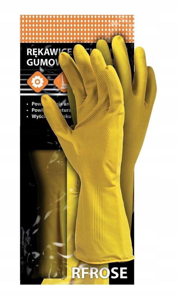 Хозяйственные перчатки RFROSE rubber flocked M