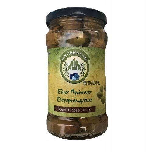 Греческие зеленые оливки без косточек 200 г