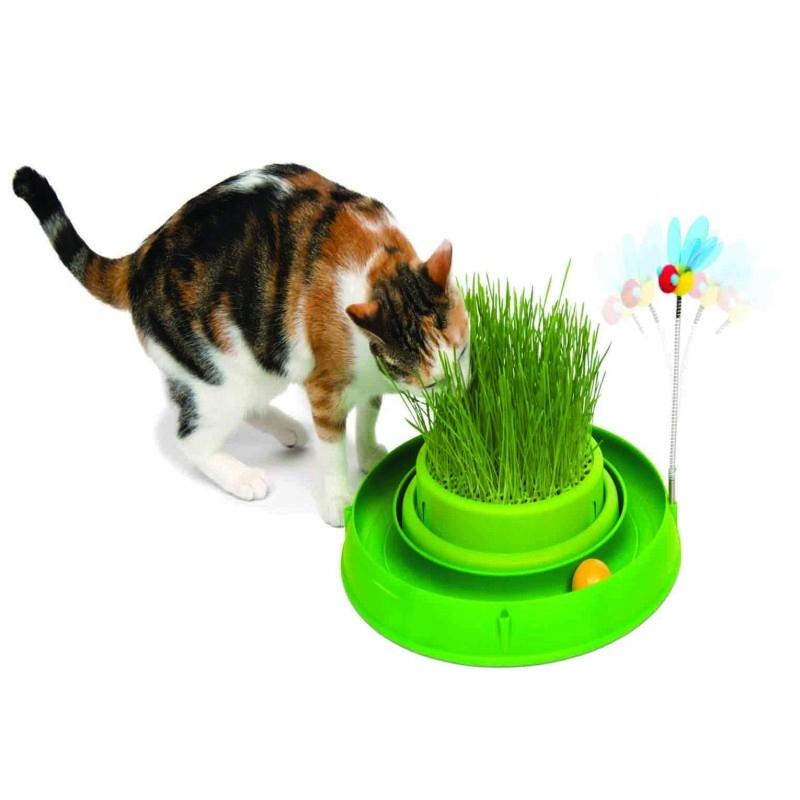 TorCatit Play'nScratch trávy,4x36x39,5cm zelená