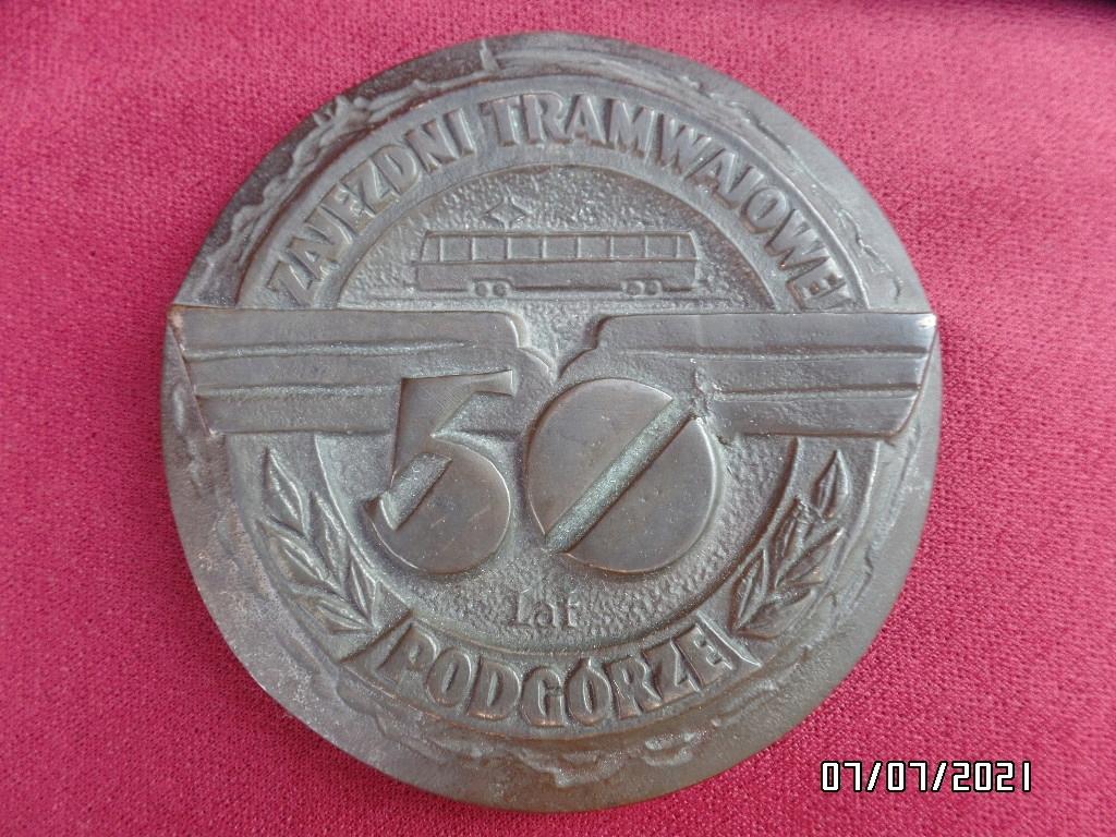 медаль за 50 лет трамвайному депо в предгорьях Кракова
