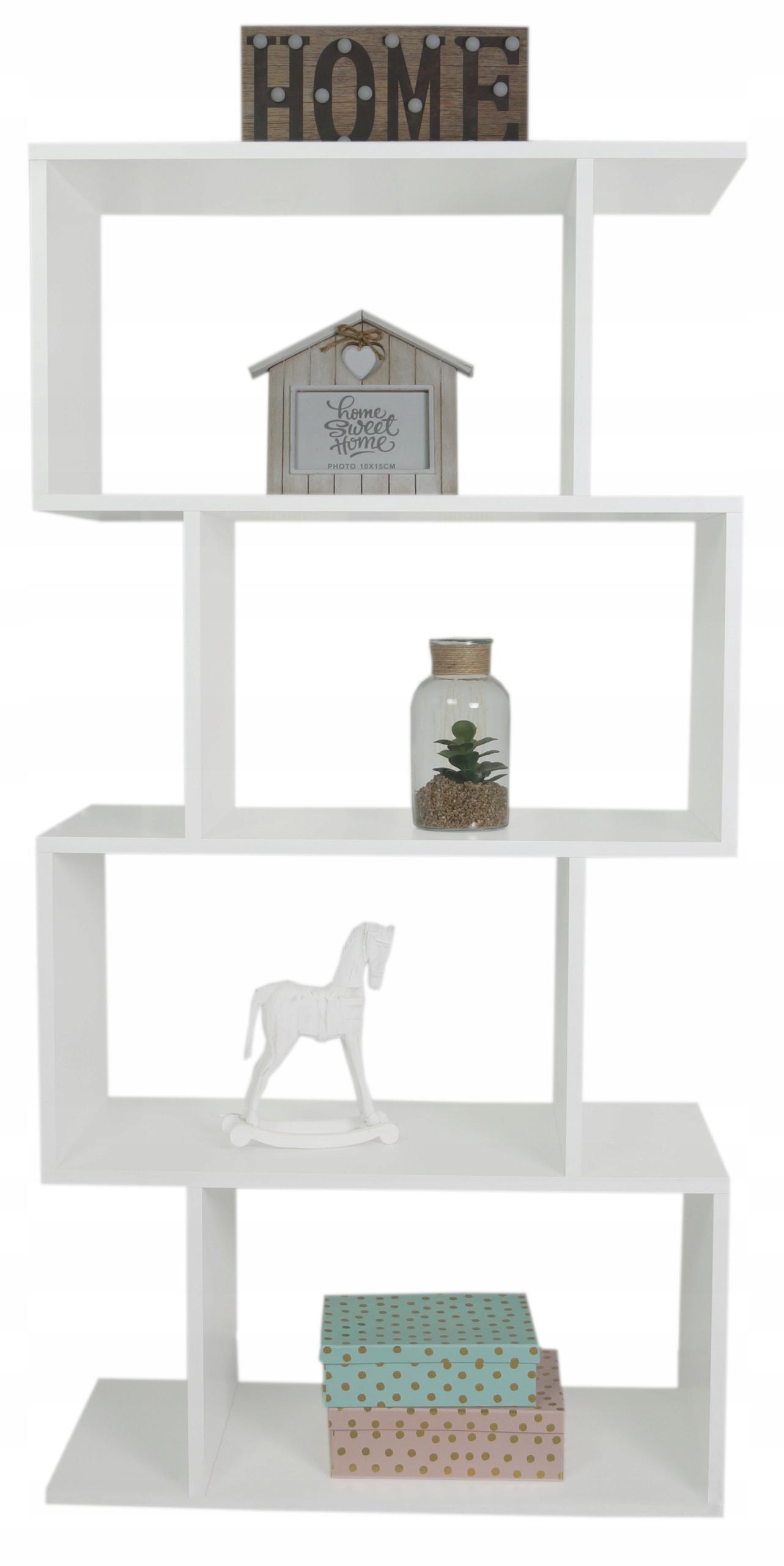 Regał na książki zabawki półka 3D Biała nowoczesny