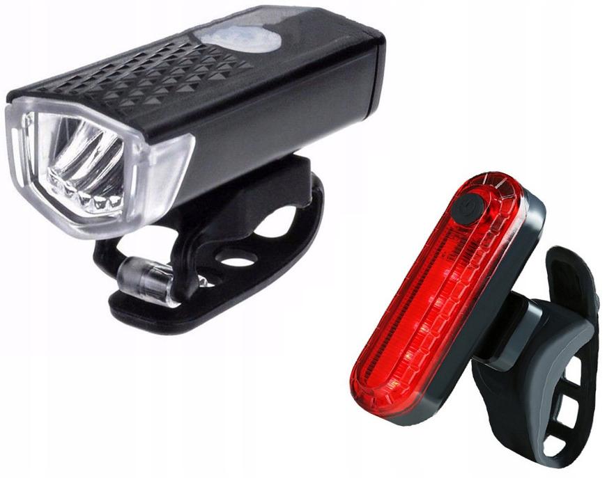 Установить светодиодный задний передний USB велосипедный свет 2 шт.