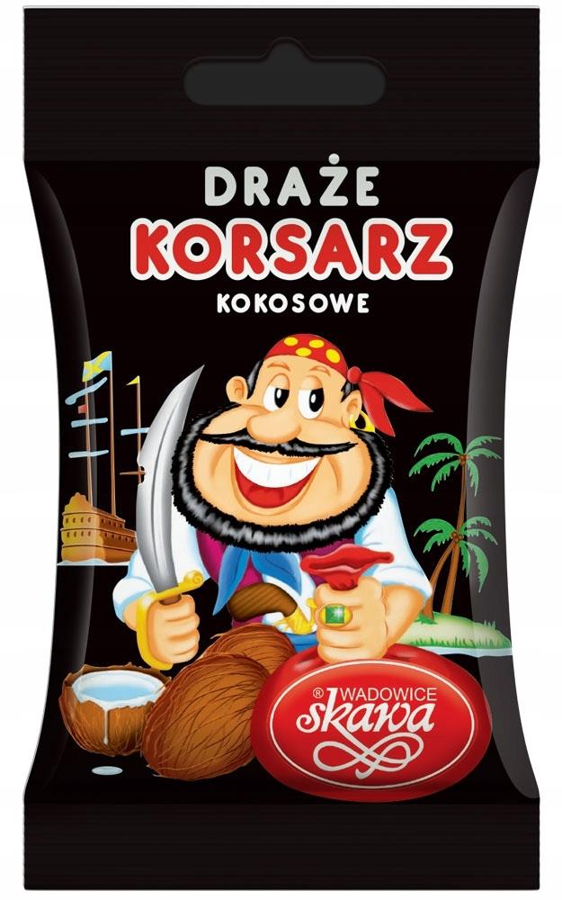 Korsarz кокосовое драже 70г Skawa