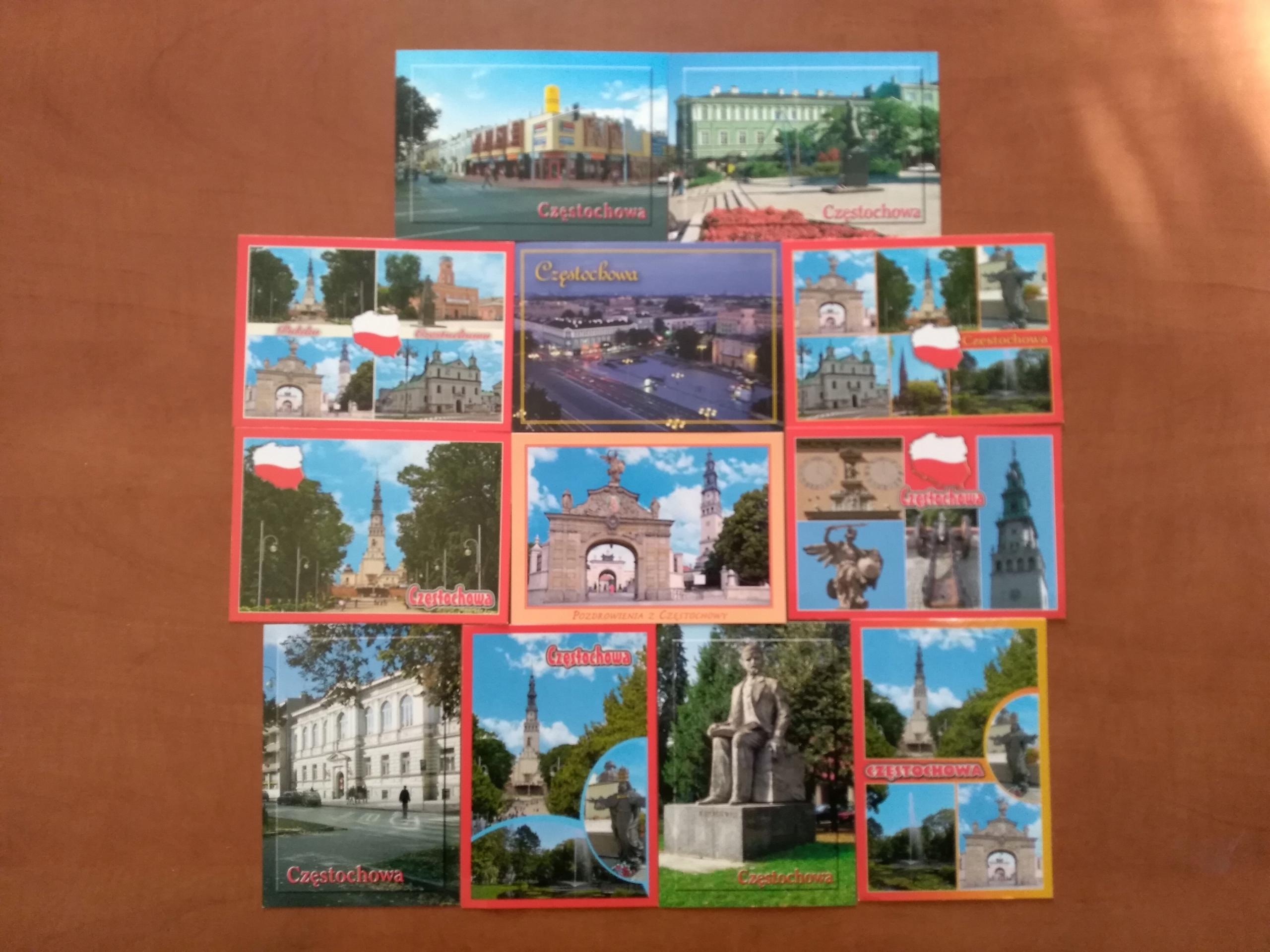 Częstochowa Postcard Sada 12 ks