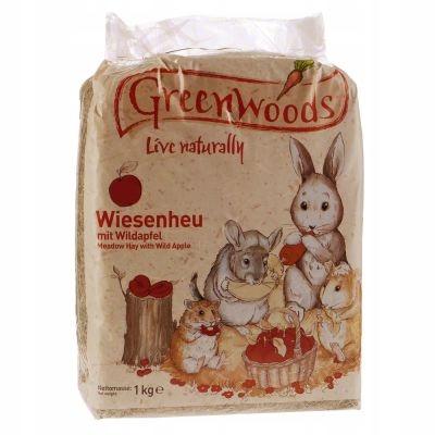 Сено луговое Greenwoods для хорьков с яблоком 4 кг