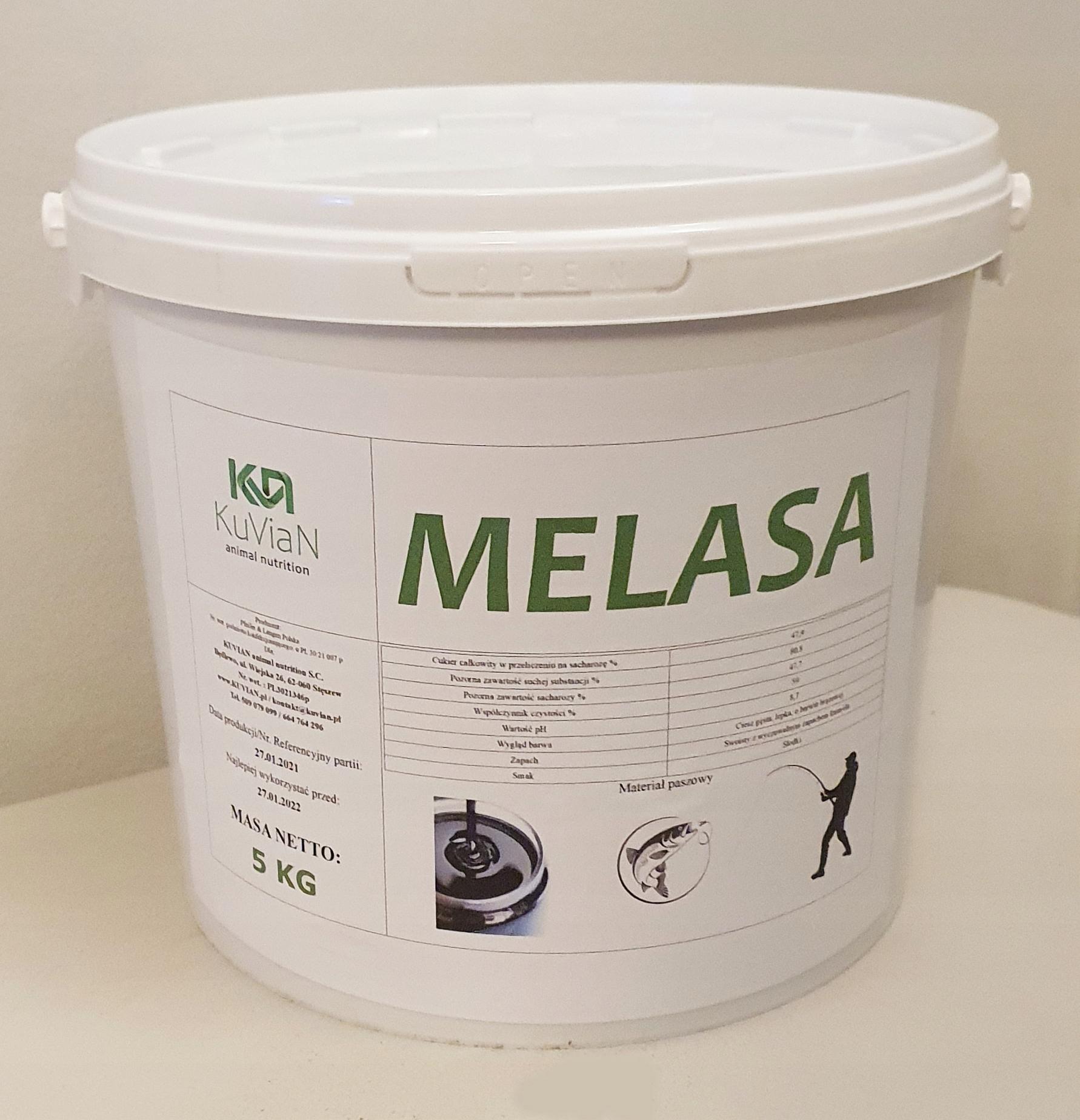 MELASA - ZANĘTA dla ryb , PRZYNĘTA na ryby (5kg)