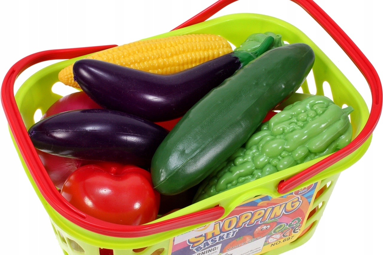 KOSZYK Piknikowy NA ZAKUPY WARZYWA OWOCE KUCHNIA Materiał Plastik