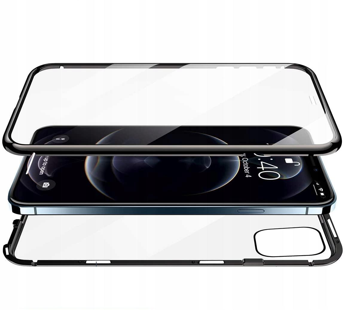 Etui Magnetyczne 360° do iPhone 12 Pro Max Typ ramka (bumper)