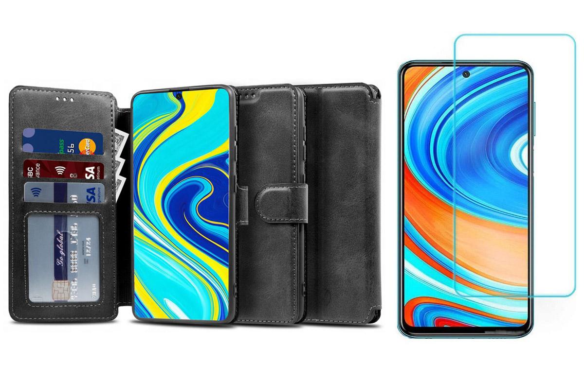 Etui Wallet do Xiaomi Redmi Note 9S / 9 Pro +Szkło
