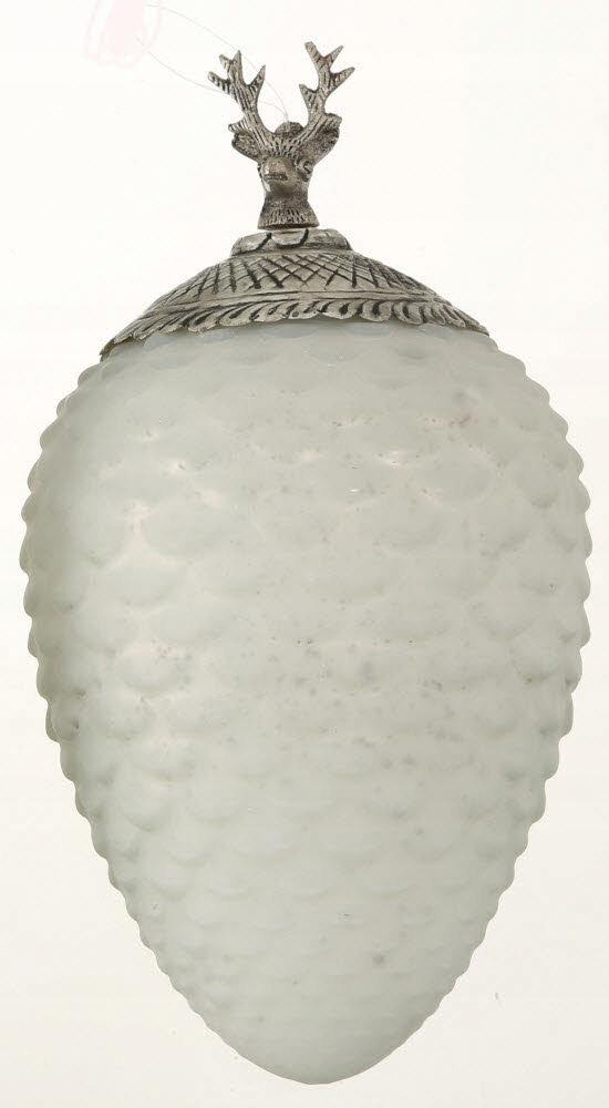 Sklenený vešiak, kužeľ 32 cm RETRO