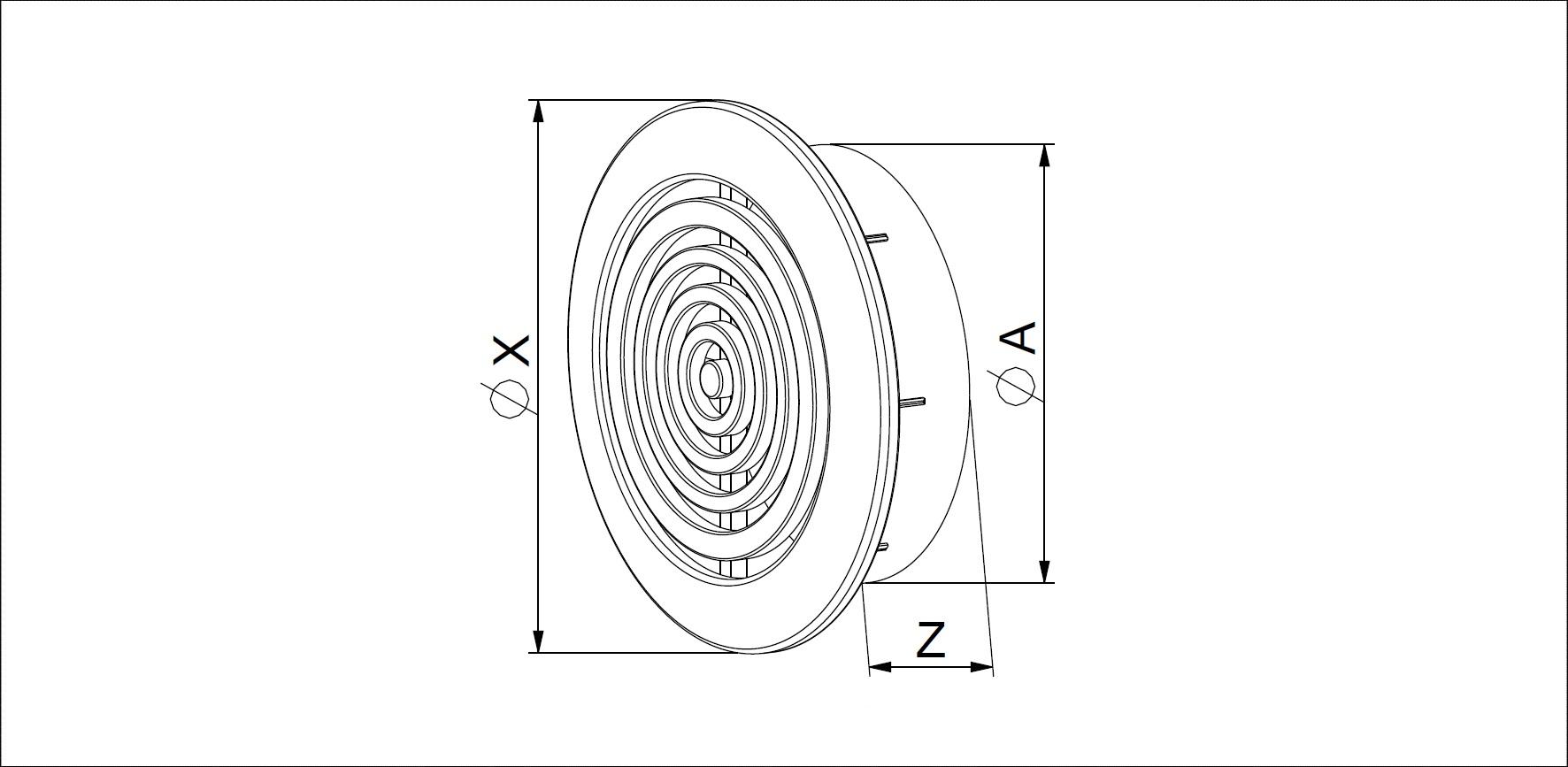 Wyrzutnia czerpnia kratka brąz z siatką fi 80 mm Kolor brązowy