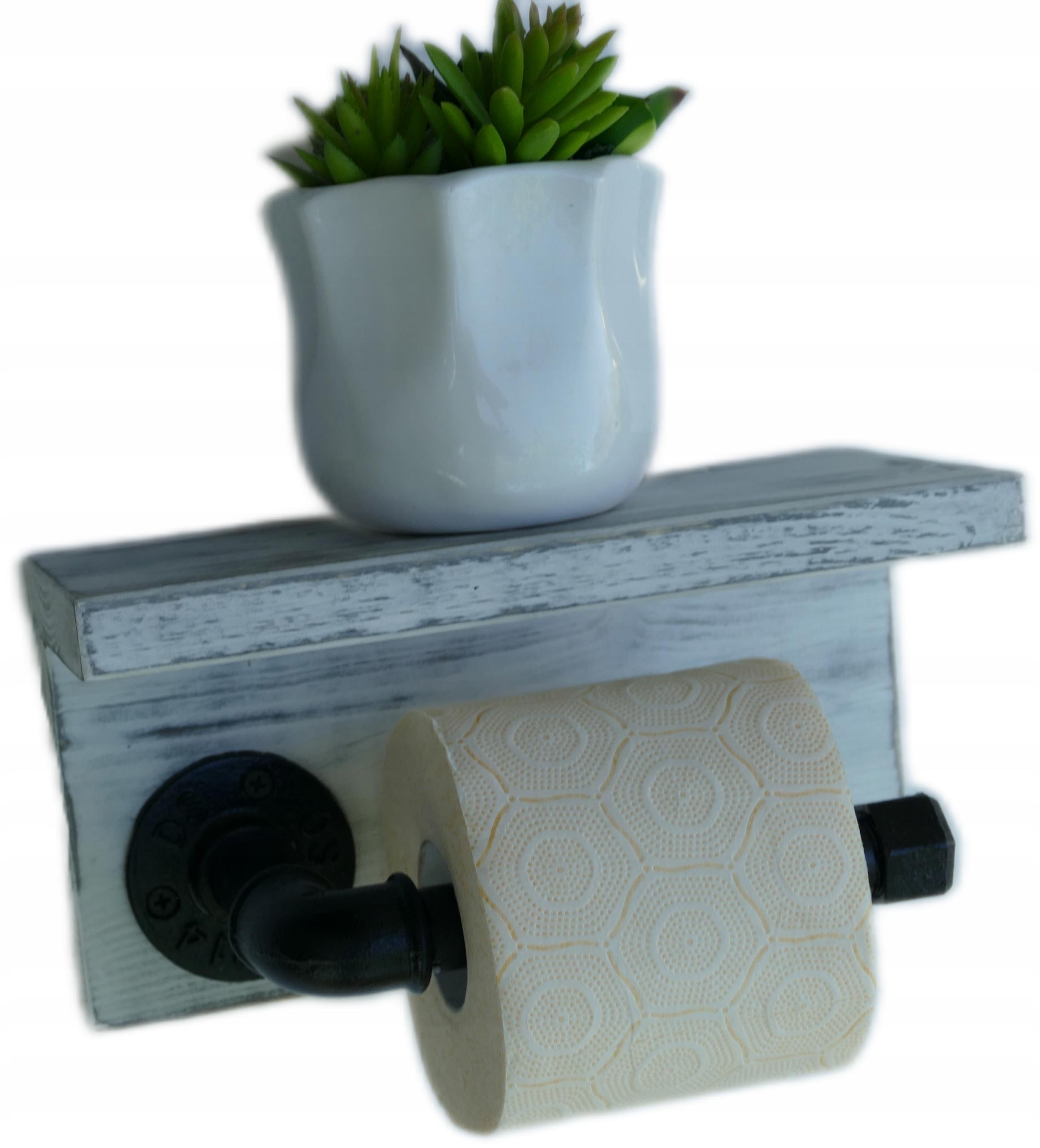 Держатель для туалетной бумаги с промышленной полкой loft