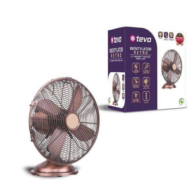 Retro kovový stolný ventilátor super kvalitný veterný mlyn