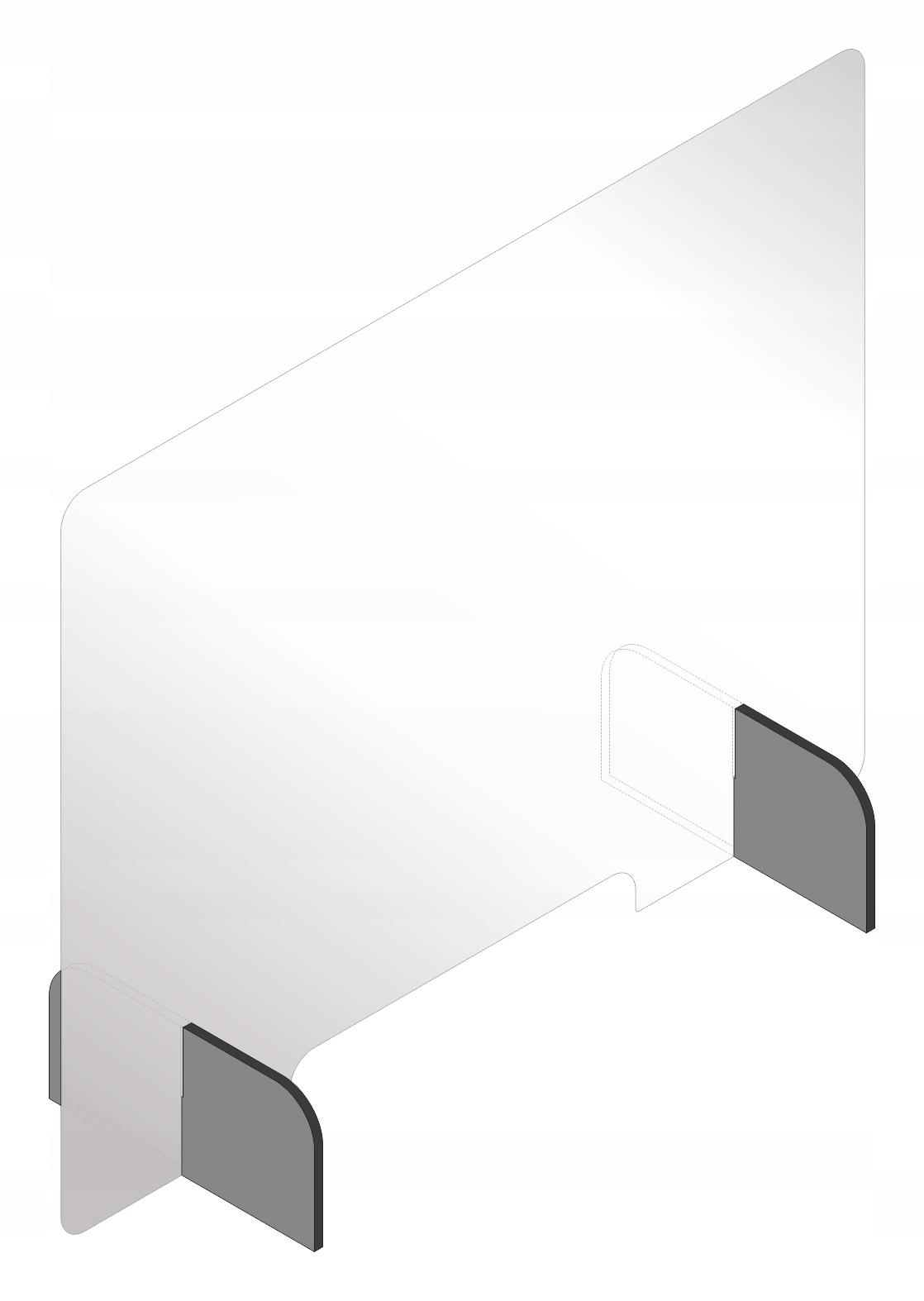 Крышка из плексигласа, защитное стекло, рабочий стол 100x75 + FREE